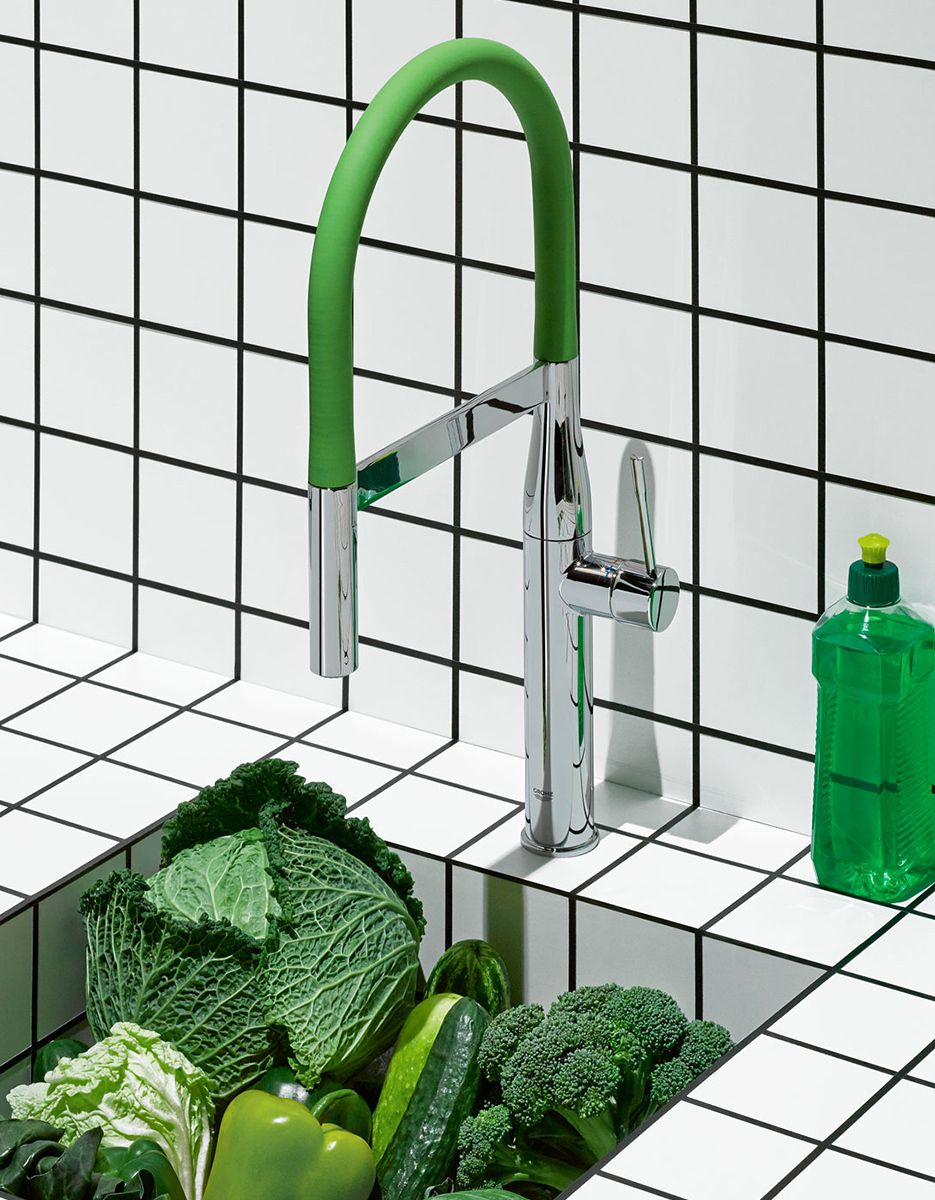 Grohe Essence Comes In Seven Rainbow Colours This One Is For People Who Love Nature C Attil Kitchen Faucet Modern Kitchen Faucet Kitchen Design Countertops