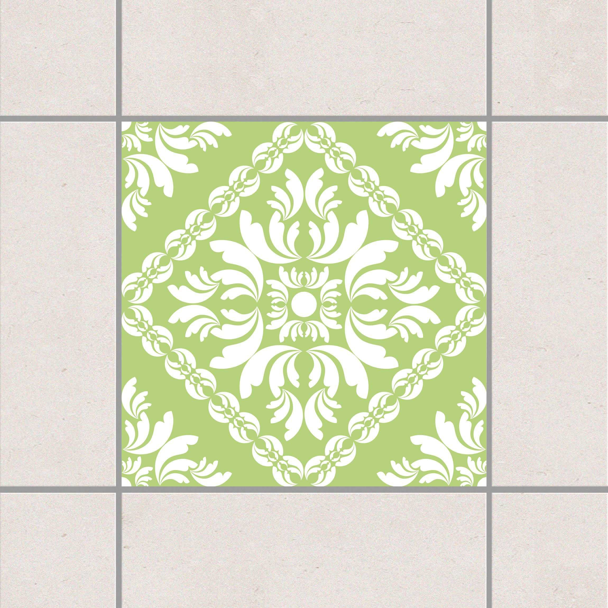 Fliesenaufkleber - Vera Rosa Spring Green 15x15 cm - Fliesensticker Set Grün