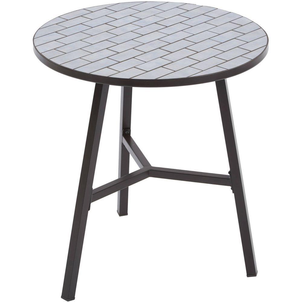 outdoor round bronze patterned bistro table betterhomesandgardens rh pinterest com