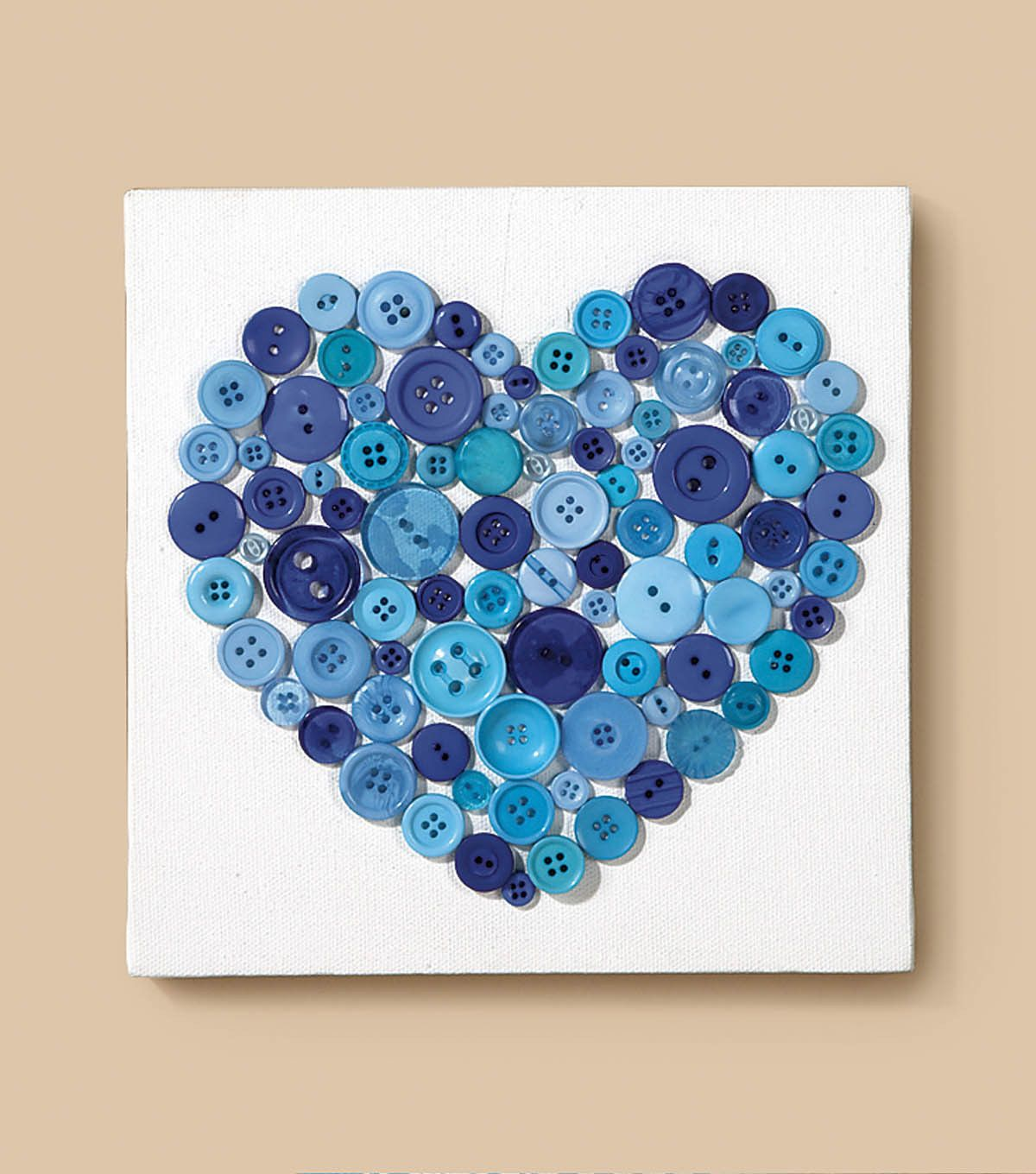 We HEART this easy #DIY button covered canvas! | Easy DIY ...