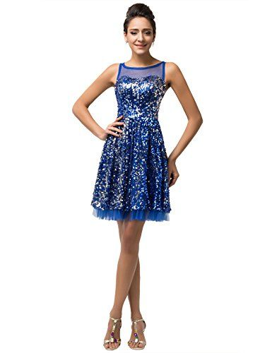 Grace Karin® Women's Sleeveless Sequined Sparkle Blue Cocktail Party Gown Dresses (2) GRACE KARIN http://www.amazon.com/dp/B00WQOAJAE/ref=cm_sw_r_pi_dp_GZP1vb06HDDNG