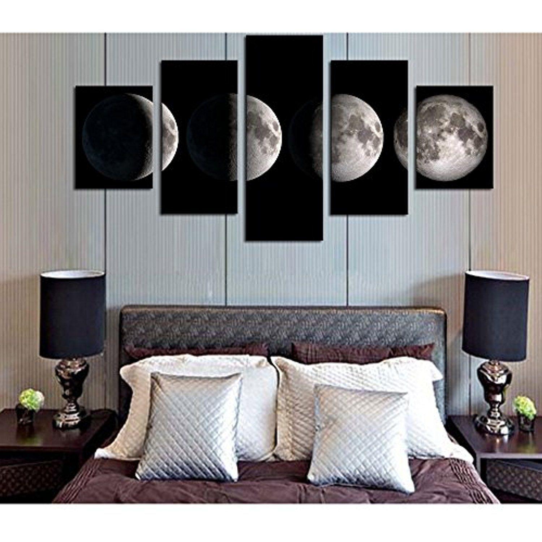 Guaitai pieces moon artwork scenery canvas wall paintings living