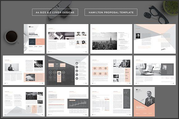 Hamilton Proposal Template by Studio Designs on @creativemarket - graphic design proposal template