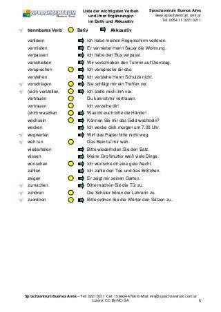 Verben Mit Dativ Und Akkusativ Almanca Pinterest Deutsch Lernen Deutsche Grammatik Und
