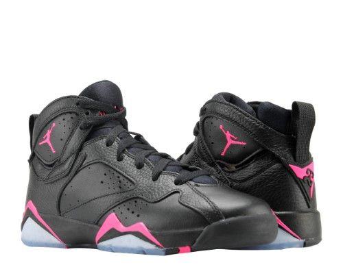 detailed look dac9a fef30 ... reduced nike air jordan 7 retro gg black pink big girls basketball shoes  442960 018 jet