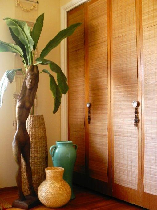 6 Closet Door DIY Transformations   Bamboo table runner, Bamboo ...