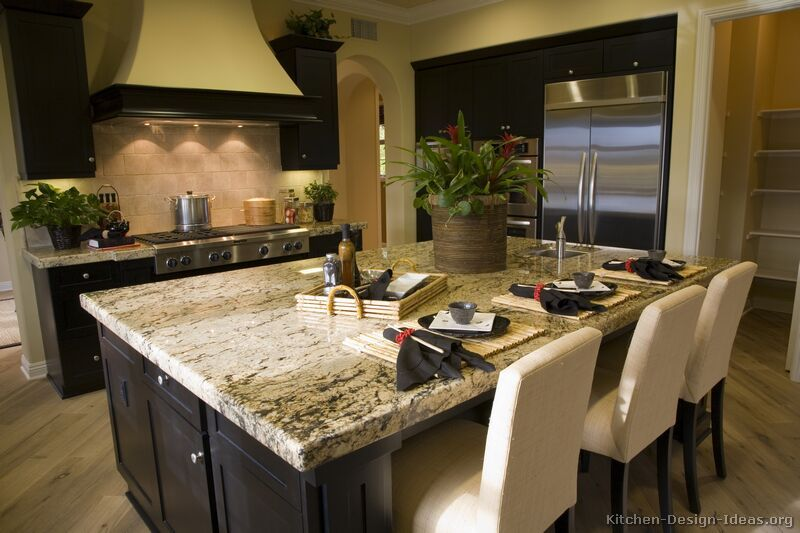 Kitchen Ideas Black Cabinets black cabinets, silver fixtures, stainless steel appliances, flat