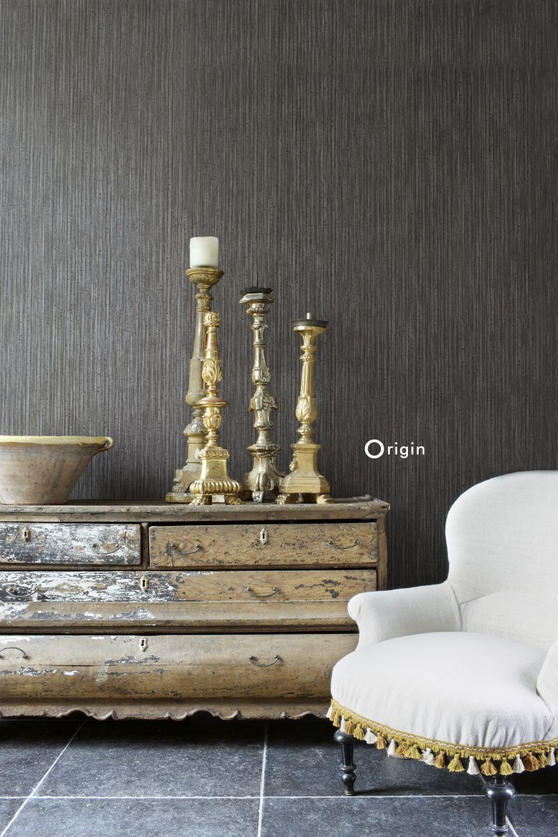 Warm Sophisticated Wallpaper With Natural Bamboo Design