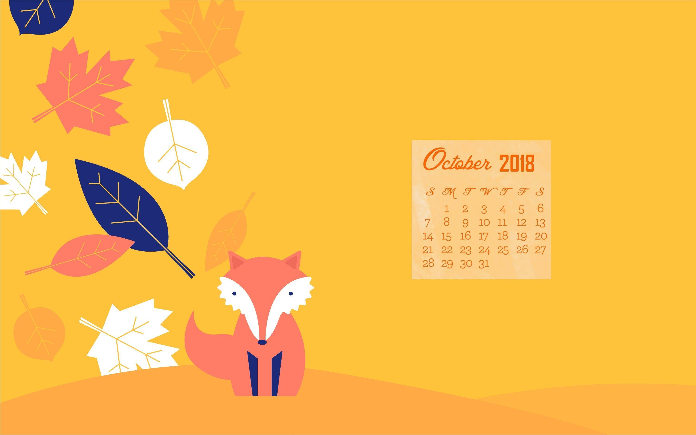 October 2018 Calendar For Laptop Background Calendar