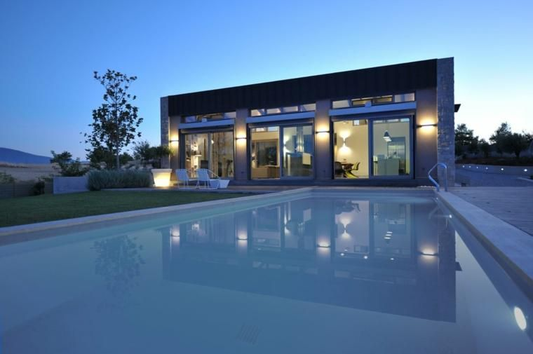 #Gartenterrasse Landschaftsdesign Modelle Mit Pool   75 Ideen #dekoration  #garten #house