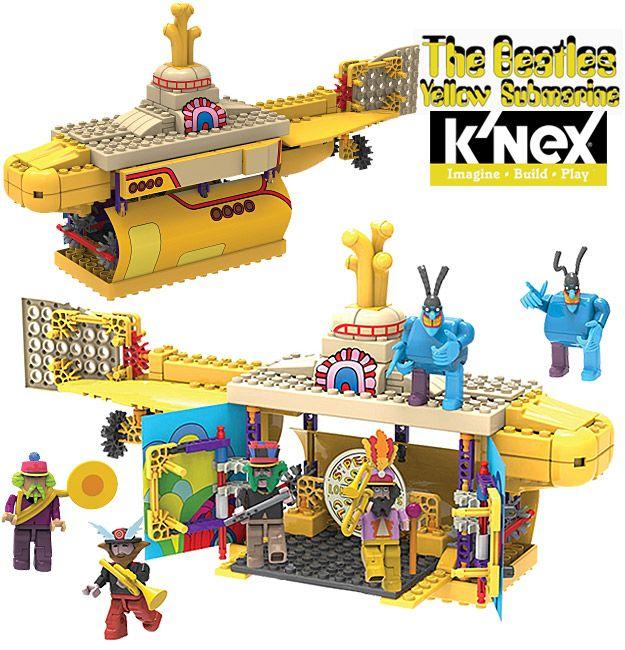 Kit K'NEX Beatles Yellow Submarine no Estilo LEGO ...