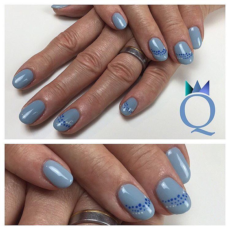 shortnails gelnails nails blue dots kurzen gel geln gel n gel blau punkte nagelstudio. Black Bedroom Furniture Sets. Home Design Ideas