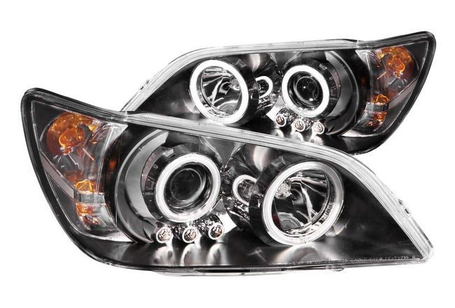 Anzo 121199 Black Clear Lens Projector Headlights W Halo For 01 05 Lexus Is300 Projector Headlights Lexus Is300 Lexus