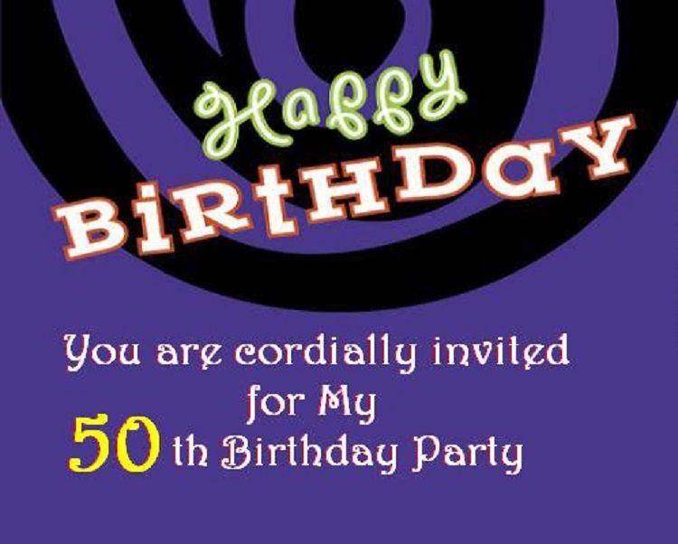 50th birthday invitation card in