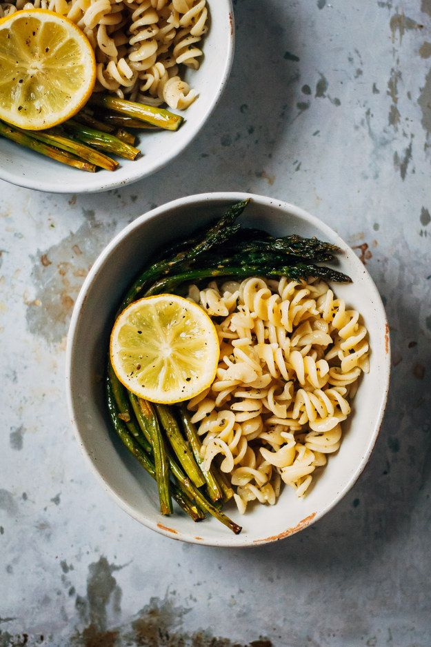 Roasted Asparagus + Lemony Herb Pasta | Community Post: 10 Delicious Dinners You Can Make In 30 Minutes Or Less