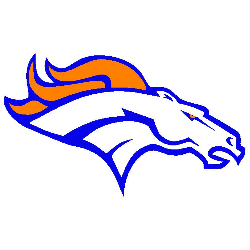 image about Printable Window Decals titled Absolutely free Printable Denver Broncos Brand denver broncos 260 symbol