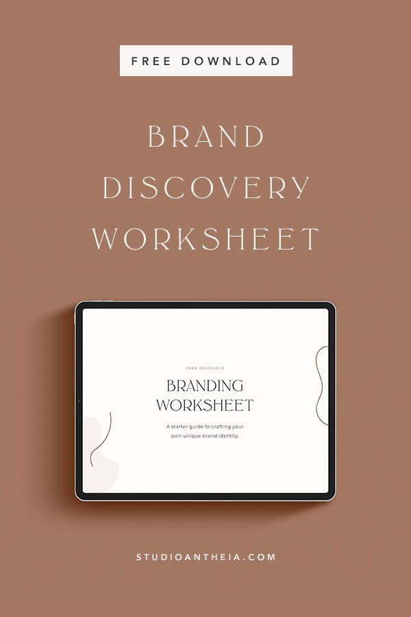 Need Help To Level Up Your Visuals And Maintain Brand Consistency This Free Brand Discovery Worksheet Will Branding Branding Your Business Branding Resources