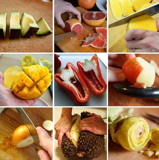 tips for cutting fruits/veggies
