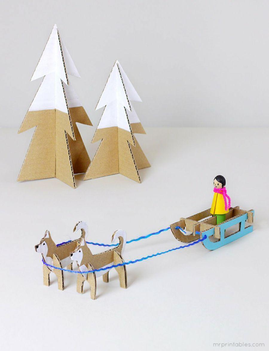 Photo of Imprimibles muñecos de cartón en invierno | Manualidades