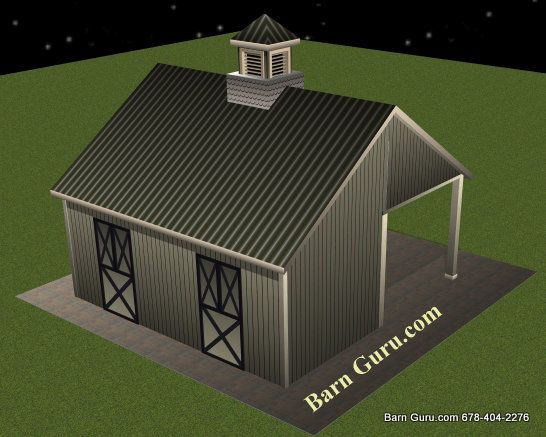 Barn plans 2 stall horse barn design floor plan barn for 2 stall barn plans