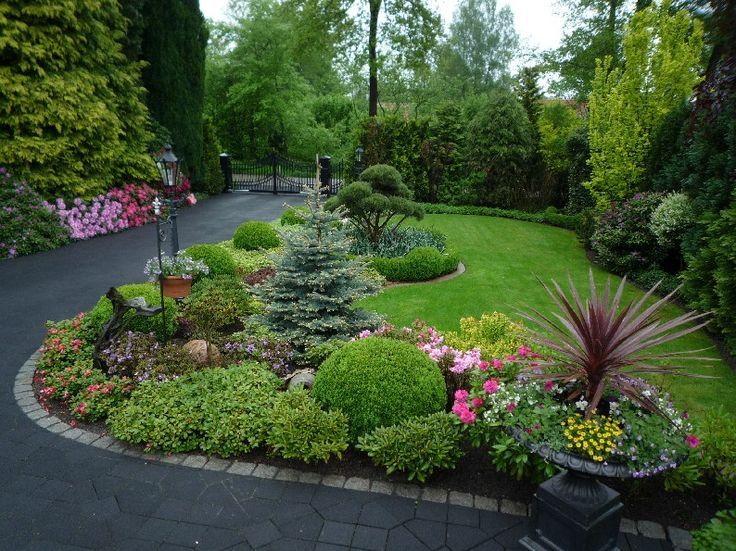 Image result for landscape design for curb shrub border | garden ...