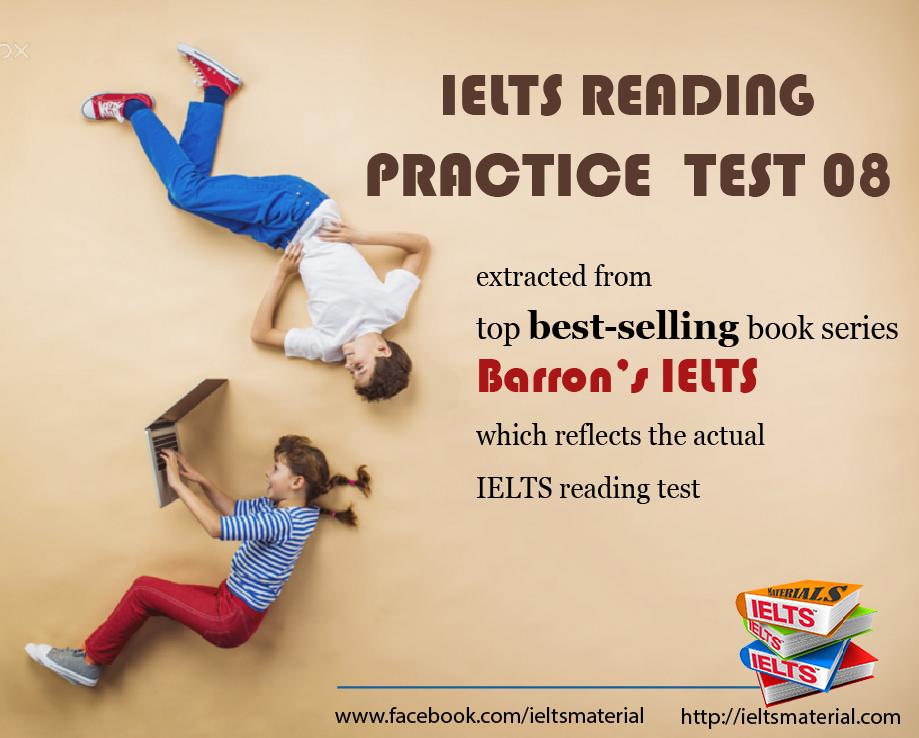 ielts reading practice test from barron s ielts practice exams