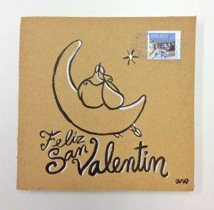 """""""En la luna"""" Campaña #sanvalentin postales personalizadas de #aroideas http://www.aroideas.com/postales/"""