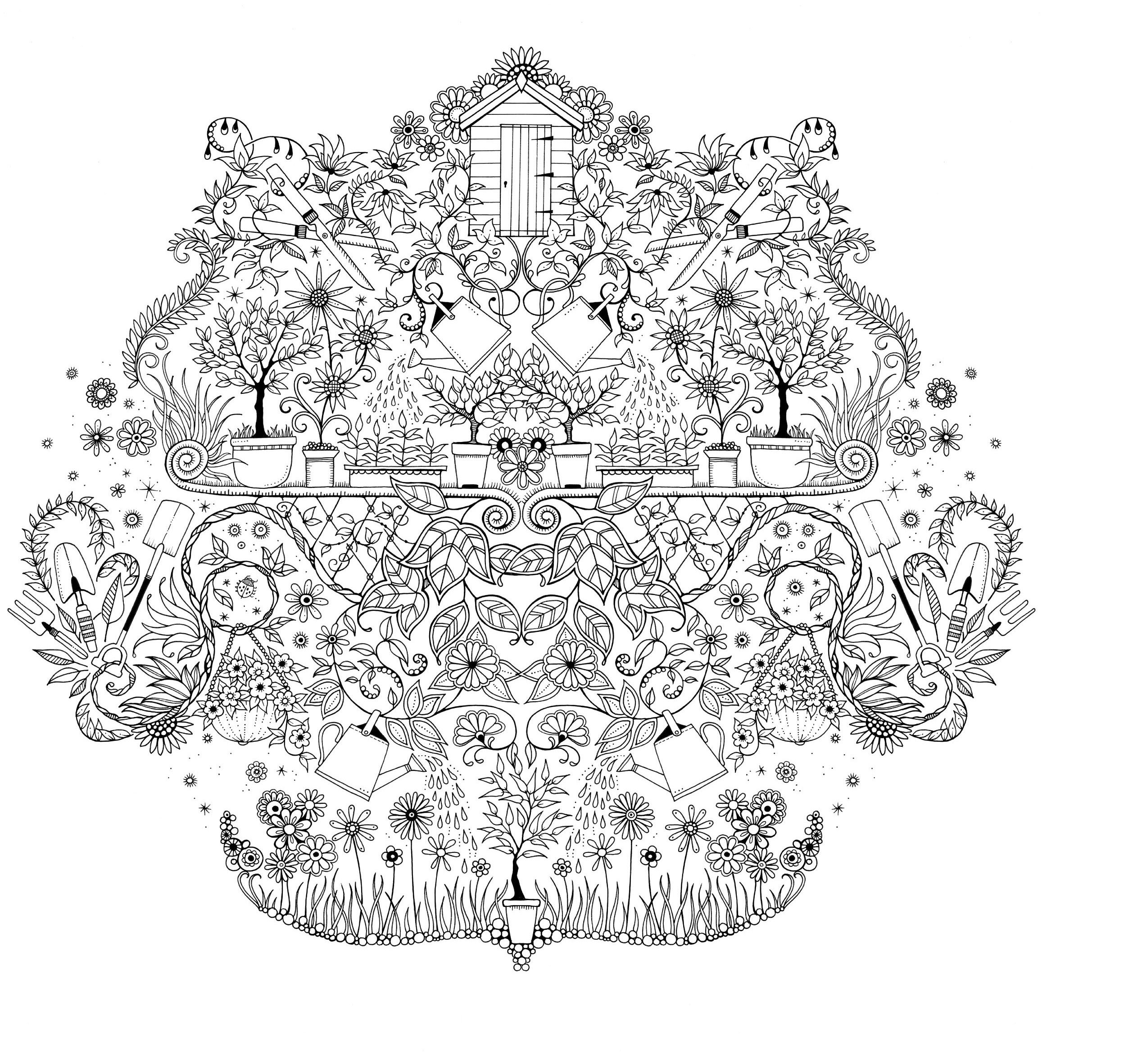 free printable secret garden coloring pages | mijn geheime tuin/ secret garden | Coloring pages | Garden ...
