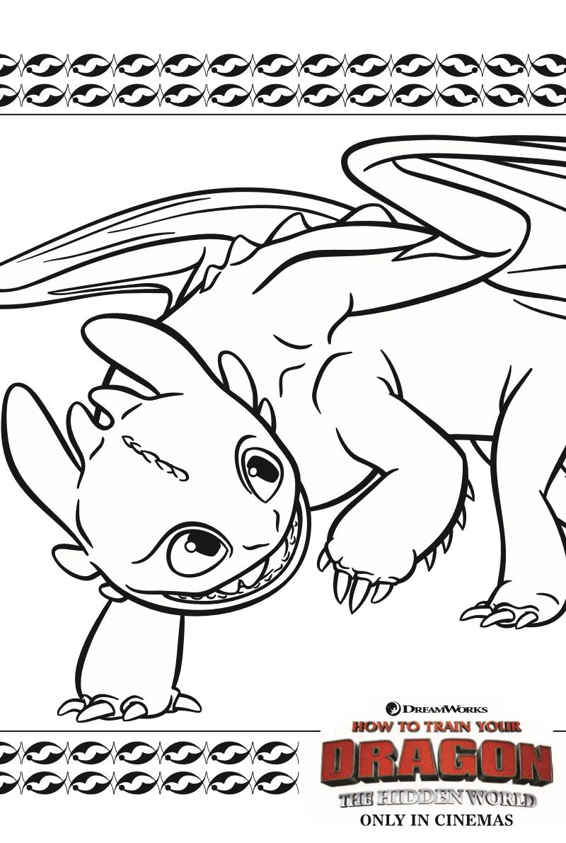 Toothless Dragon Coloring Page From How To Train Your Dragon 3 Dragon Coloring Page How Train Your Dragon How To Train Your Dragon