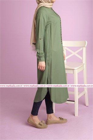60ee21ea3fb24 tesettür giyim tunik modelleri #moda #fashion #diy #tesettür #allday #tunik