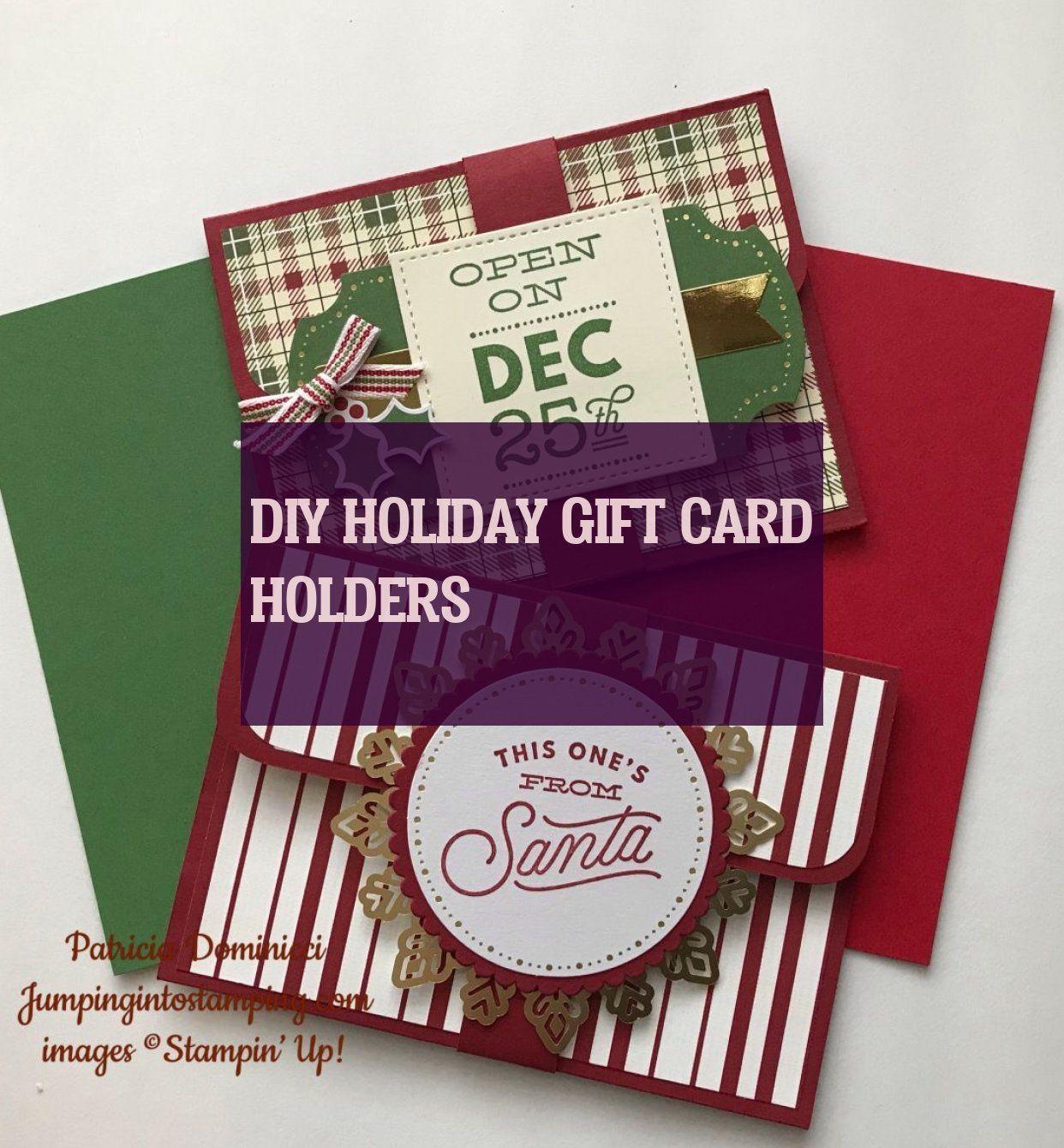 Diy Urlaub Geschenkkartenhalter