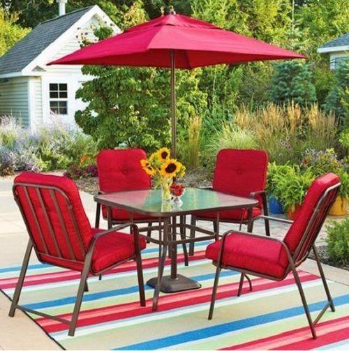 "Mainstays Lawson Ridge 6-Piece Patio Dining Set Red Seats 4 Mainstays  #Mainstays #""patiofurnituresets"" - Mainstays Lawson Ridge 6-Piece Patio Dining Set Red Seats 4"
