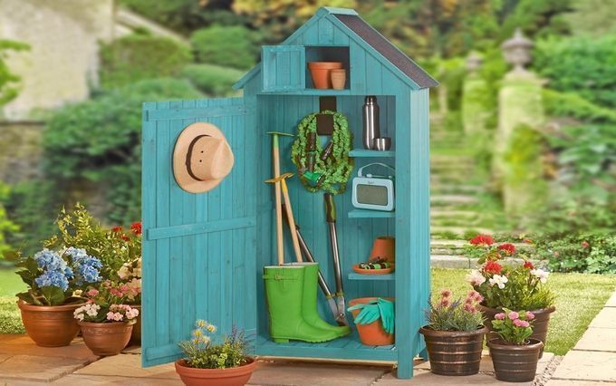 diy compact garden tools storage shed design ideas