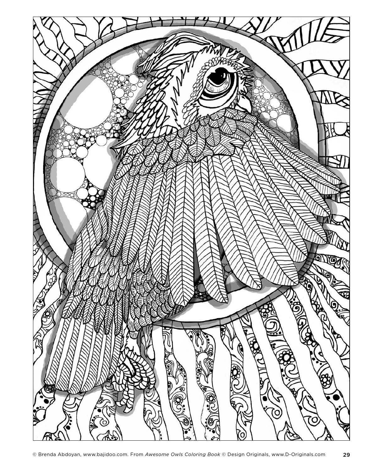 Awesome Owls Coloring Book By Fox Chapel Publishing Issuu Zentangel Doodel Geo