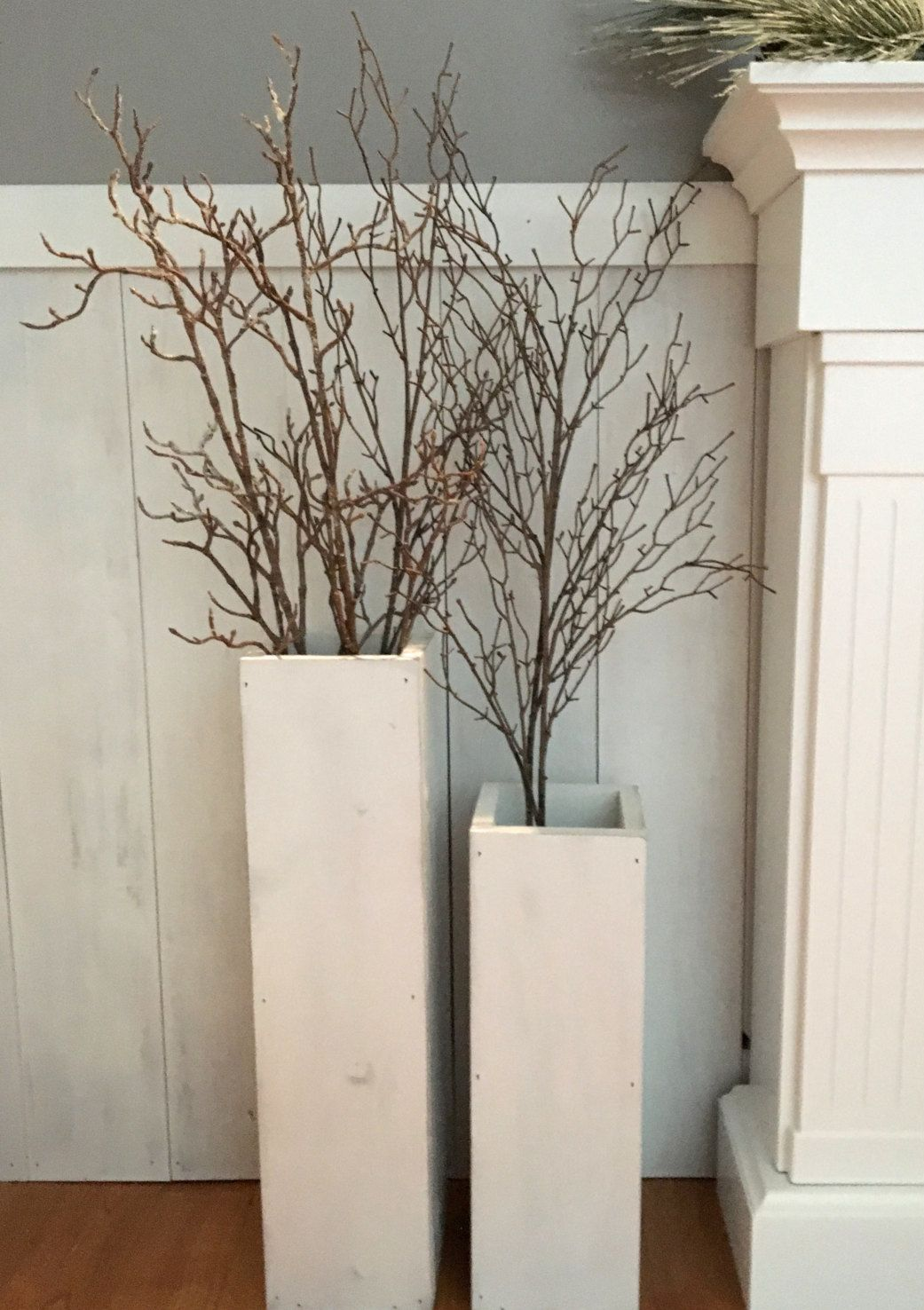 White wooden vases reclaimed wood distressed wood floor vases white wooden vases reclaimed wood distressed wood floor vases set of two reviewsmspy