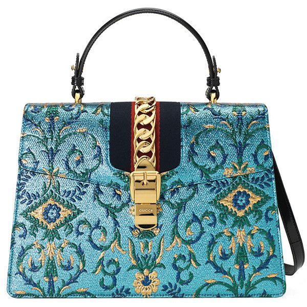 Gucci Sylvie Brocade Top Handle Bag 2 890 Liked On Polyvore Featuring Bags And Handbags
