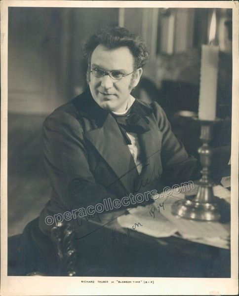 Tauber Richard Signed Photo In Blossom Time Signed Photo Drama Film Photo