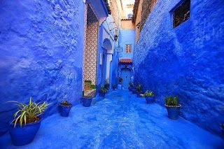 The World Most Beautiful Place Blue Street In Chefchaouen