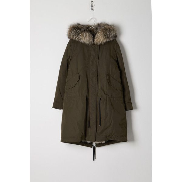 Moncler Moncler Veronika Long Parka (9.920 BRL) ❤ liked on Polyvore featuring outerwear,