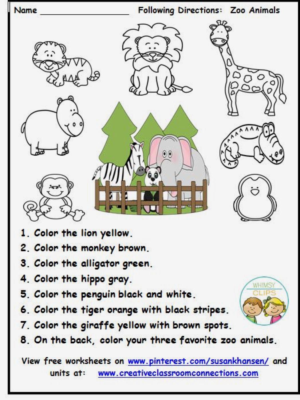 Zoo Unit Zoo preschool, Zoo activities, Preschool zoo theme