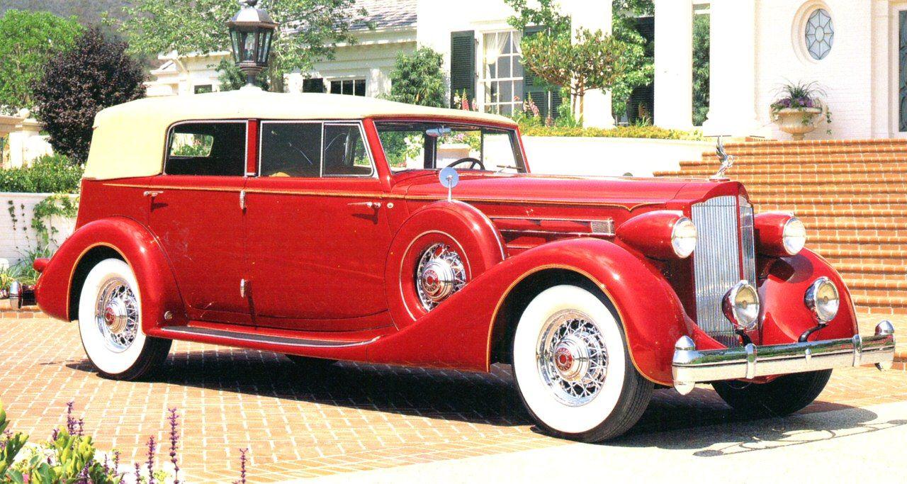 1934 Packard V 12 Dual Cowl Four Door Convertible Phaeton