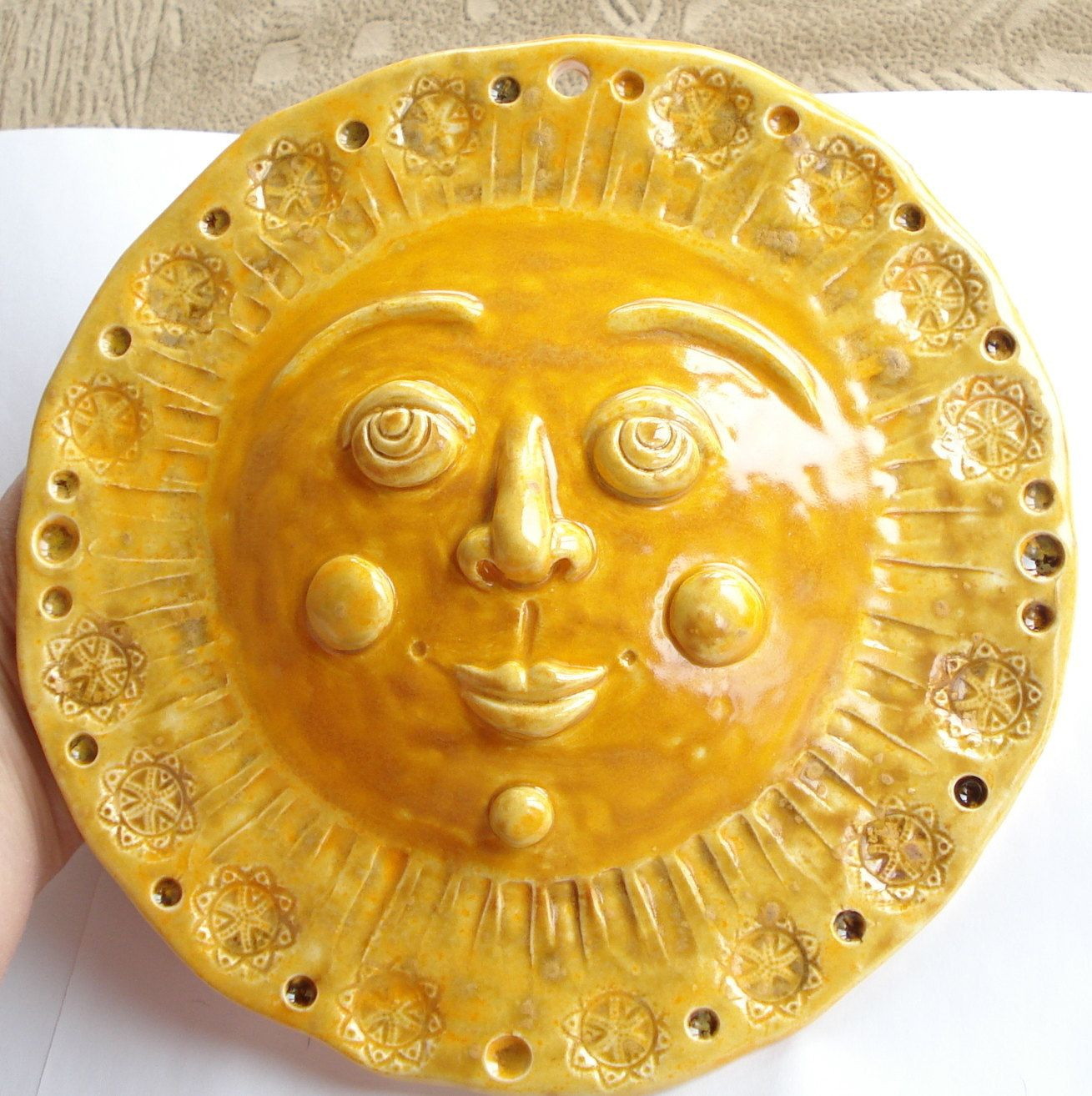 The Sun decorative wall hanging. $30.00, via Etsy. | Mr. Golden Sun ...