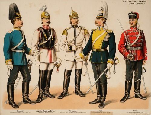 The German Army (Prussia), 1890. -- by Moritz Ruhl from the Anne S. K. Brown Military Collection.
