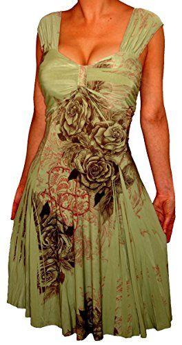 ecdddf51e2e FASHION BUG WOMENS PLUS SIZE COCKTAIL DRESS SAGE GREEN BLACK FLORAL PLUS  SIZE DRESS. www.fashionbug.us  curvy  plussize  FashionBug