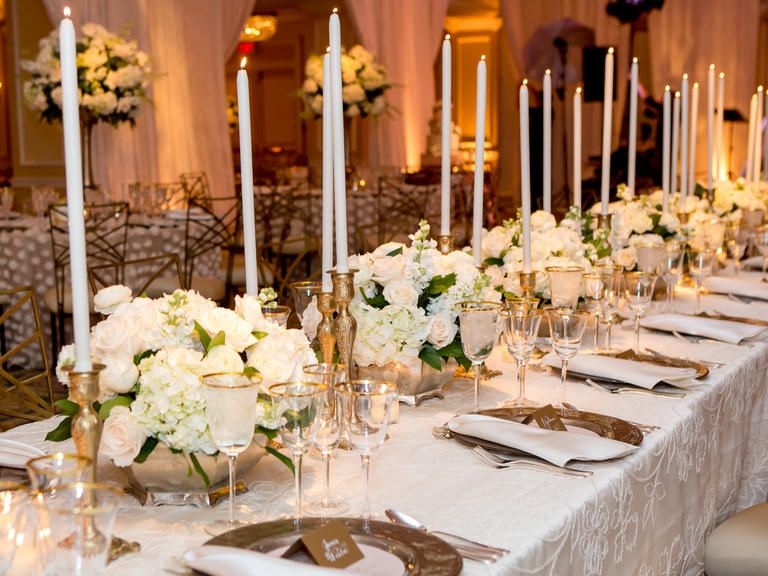 Theres something so timeless about an allwhite reception Add