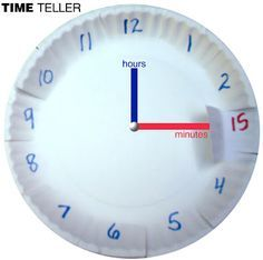 Fabulous idea for teaching how to read a clock...made this for a kid I tutored who was having trouble with time...and after practicing with this, he nailed his test!