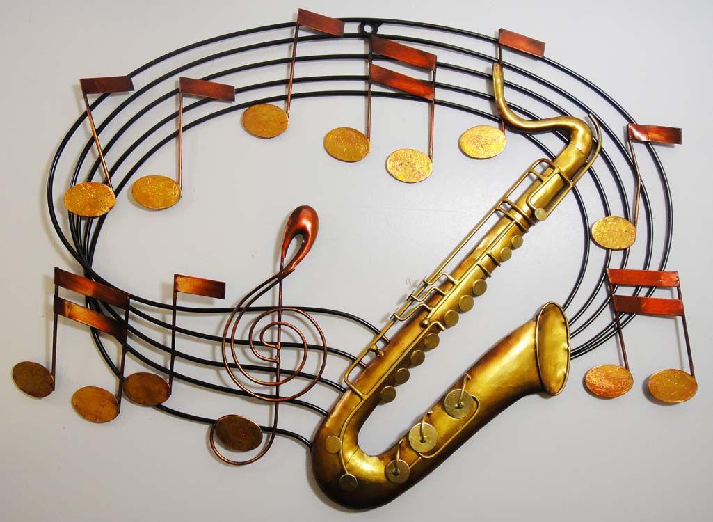 Music Metal Wall Art metal wall art - saxophone music scroll | saxophone music