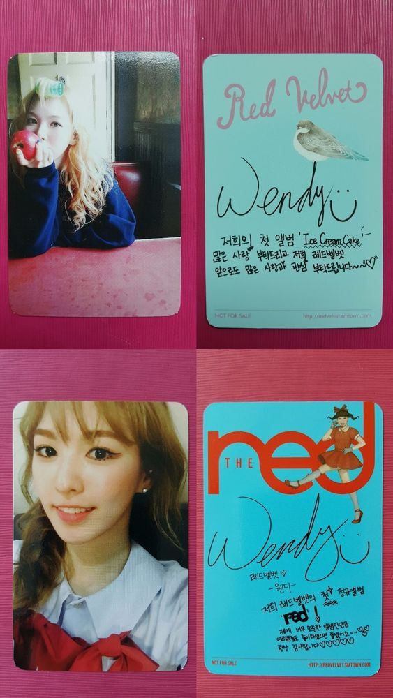 Details About Lot Of 2 Red Velvet Wendy Official Photocard Ice Cream