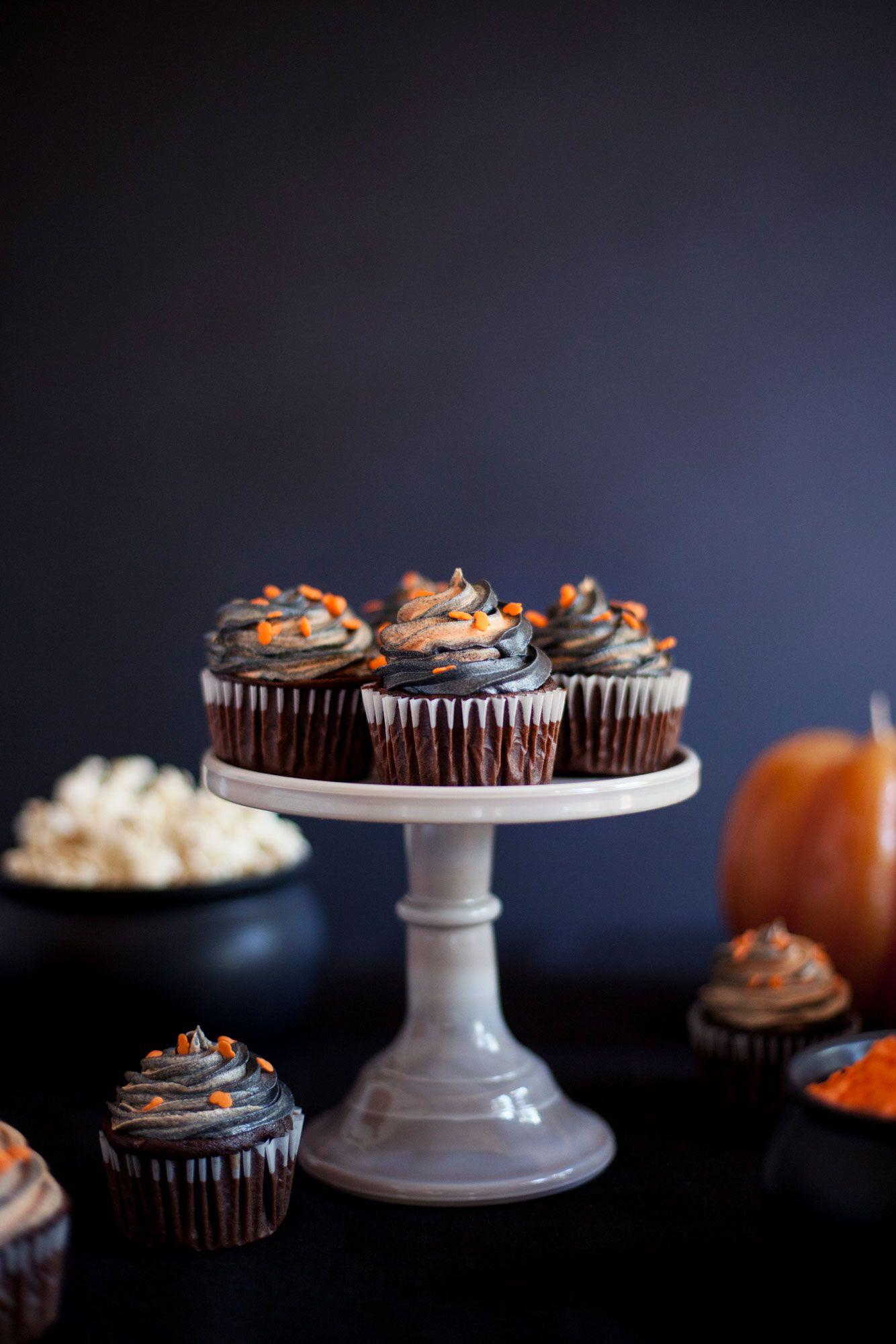 Chocolate Pumpkin Cupcakes Recipe Shop the look