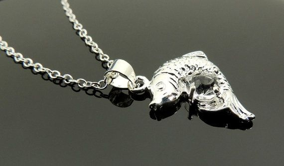 Silver Necklace. With a Pendant and a by SimpleElegantJewelry, $20.00